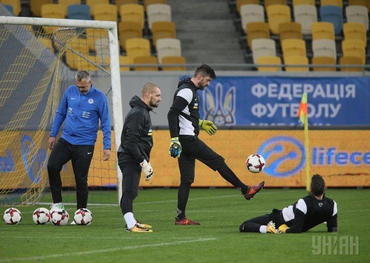 Открытая тренировка сборной Словакии накануне товарищеского матча против сборной Украины