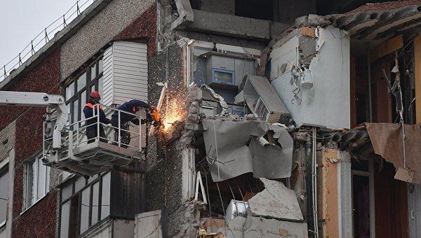 Последствия обрушения жилого дома в Ижевске