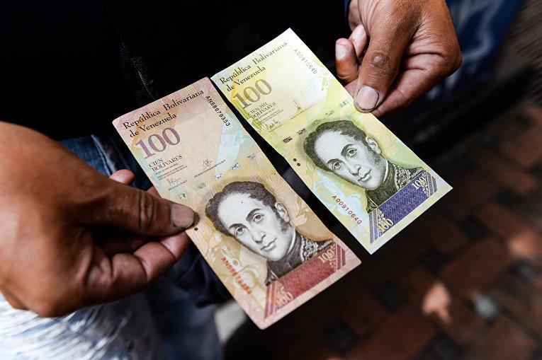 В Венесуэле выпустили купюру в 100 тысяч боливаров. По курсу черного рынка столько стоит 2 доллара