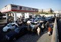 Очередь на автозаправке в Йемене