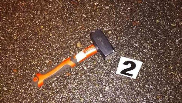 Нападение в центре Киева. Молоток