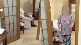 Свекровь главы НАПК заблокировала в квартире детектива НАБУ. Видео