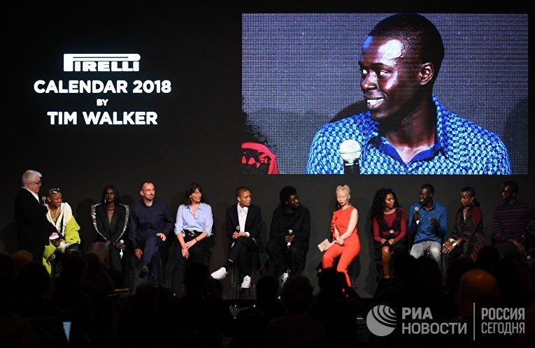 Представление нового календаря Pirelli 2018 года в Нью-Йорке