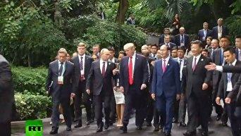 Путин и Трамп пообщались во Вьетнаме