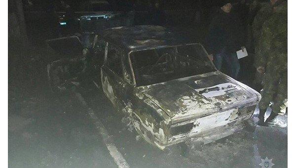 Под Днепром авто полицейских расстреляли из гранатомета