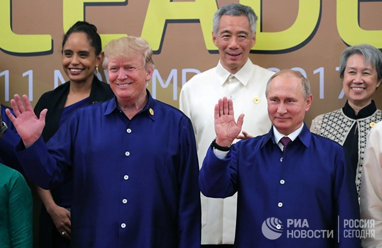 Песков сказал омножественных контактах В.Путина иТрампа насаммите АТС