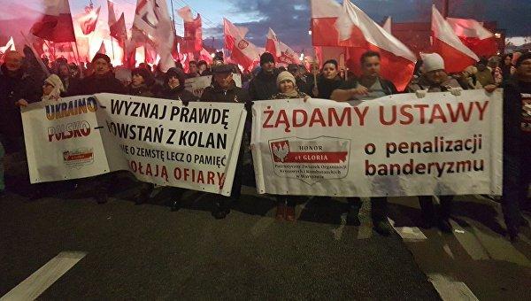 Марш ультраправых в Польше, где призывали наказать бандеровцев