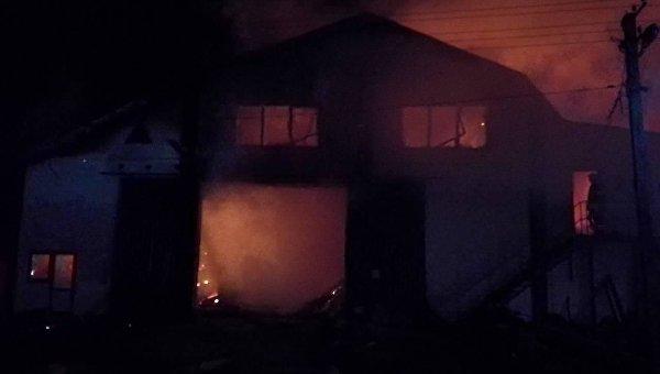 Ночью в Киевской области горел цех