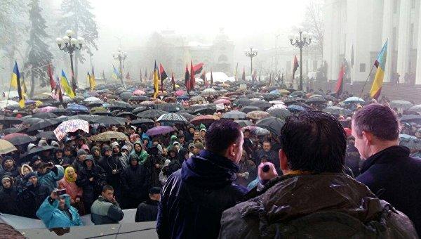 Вече Саакашвили возле Рады, 12 ноября 2017