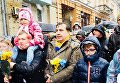 Михаил Саакашвили в ходе шествия в Киеве