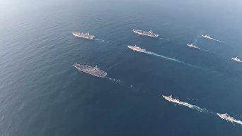 Масштабные учения ВМС США и Японии в Юго-Восточной Азии. Видео