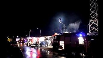 Масштабный пожар во Львове: горел рынок. Видео