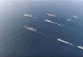США опубликовали видео появления трех авианосцев у берегов Кореи. Видео