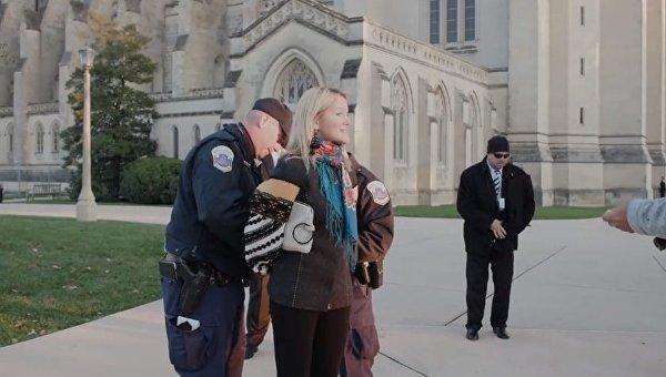 Задержание украинской активистки в Вашингтоне