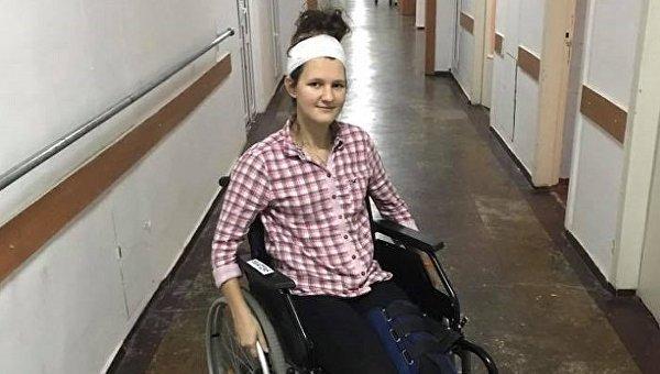 Анна Комар, пострадавшая в харьковском ДТП