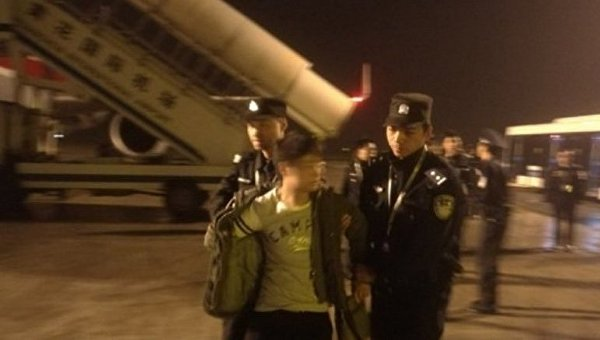 Арест пассажира китайского самолета