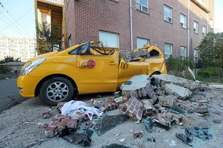 ВЮжной Корее случилось землетрясение магнитудой 5,4