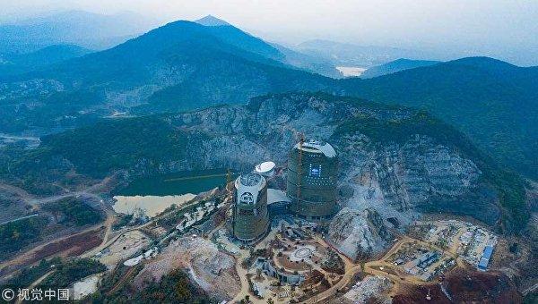 Строительство отеля в Нанкине (Китай)