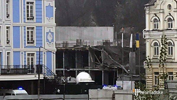 Настройке Укрбуда вКиеве обвалилась плита: пострадавших нет