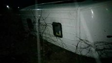Автобус с работниками перевернулся на Закарпатье