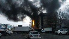 В торговом центре Киева произошел пожар