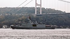Ракетный фрегат-невидимка Военно-морских сил Франции класса La Fayette в Черном море