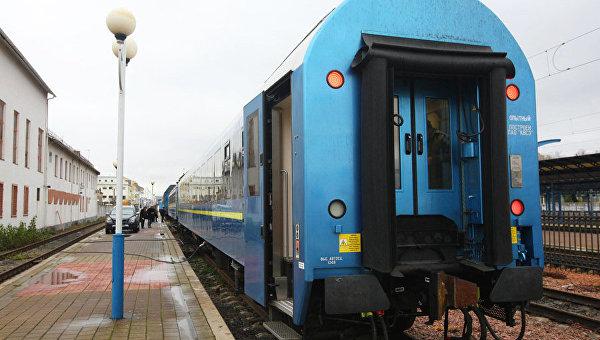 Презентация пассажирских вагонов международного класса, которые Укрзализныця запустит по маршруту Киев-Вена