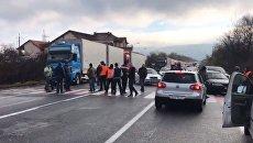 Водители блокируют КПП Ужгород