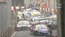 Авария спорткаров на гонке в Макао