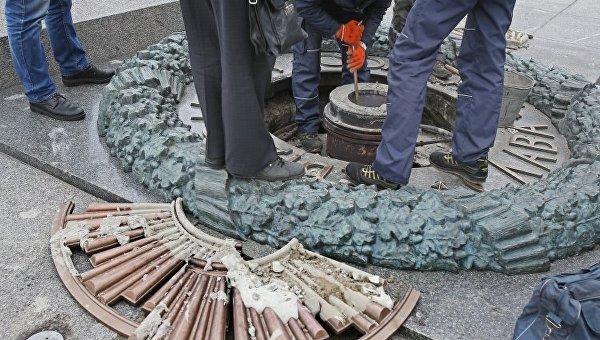 ВКиеве установят камеры видеонаблюдения уряда монументов — Защита отвандалов