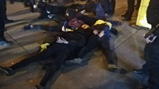 Погром на Нивках в Киеве и задержание активистов Нацкорпуса