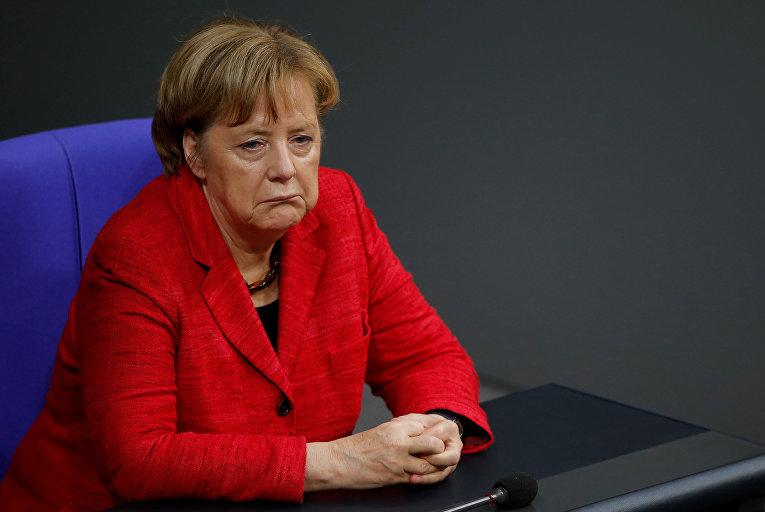Канцлер Германии Ангела Меркель на заседании Бундестага в Берлине