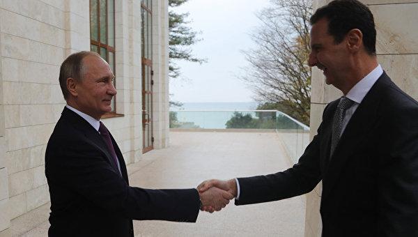 ВГосдепартаменте прокомментировали фото сПутиным, обнимающим Асада