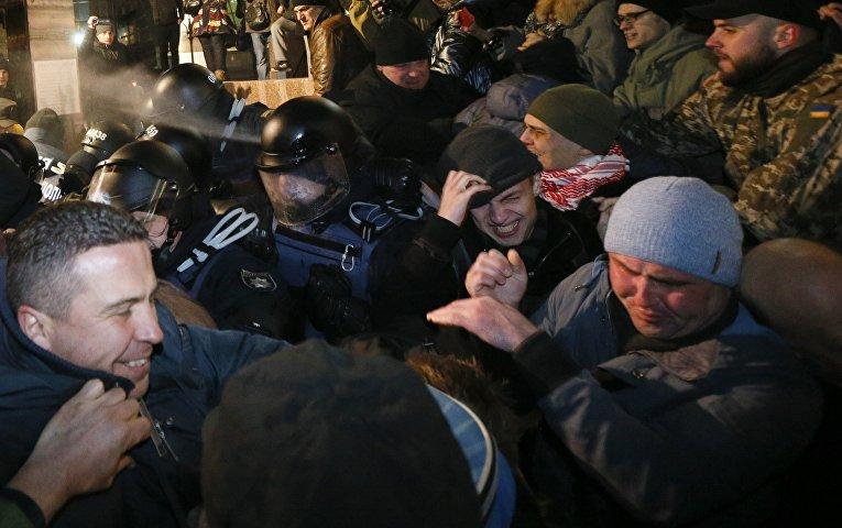 Ситуация на Майдане в день годовщины Революции достоинства