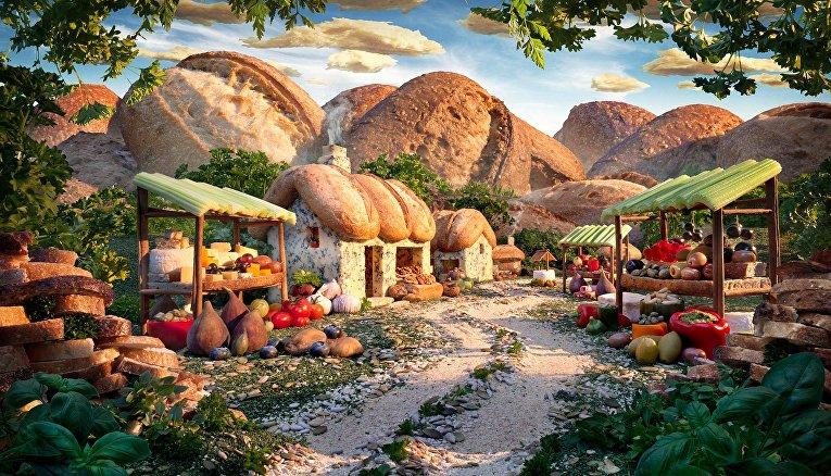 Фантастические пейзажи из еды