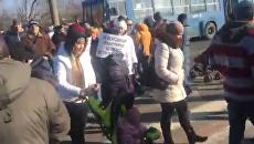 Недовольные одесситы перекрыли киевскую трассу. Видео