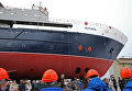 Спуск на воду океанографического судна Янтарь