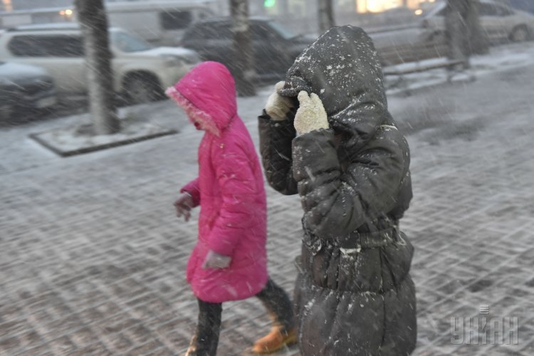 Первый снег в Запорожье