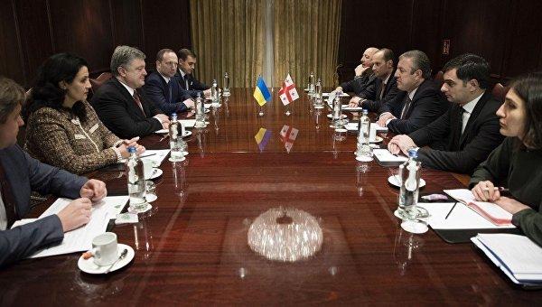 Президент Петр Порошенко провел встречу с премьер-министром Грузии Гиорги Квирикашвили