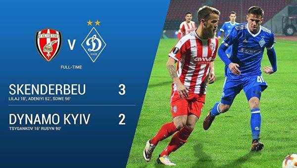Результат матча Лиги Европы Скендербеу - Динамо