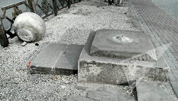 Осквернение памятника в Молдове