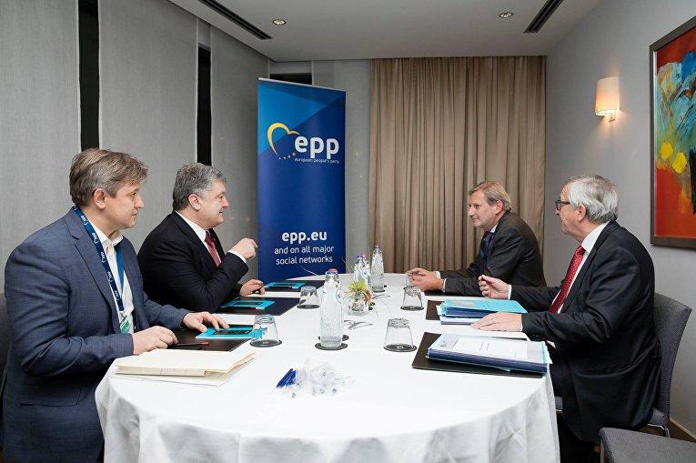 Встреча Петра Порошенко с президентом Европейской Комиссии Жан-Клод Юнкером