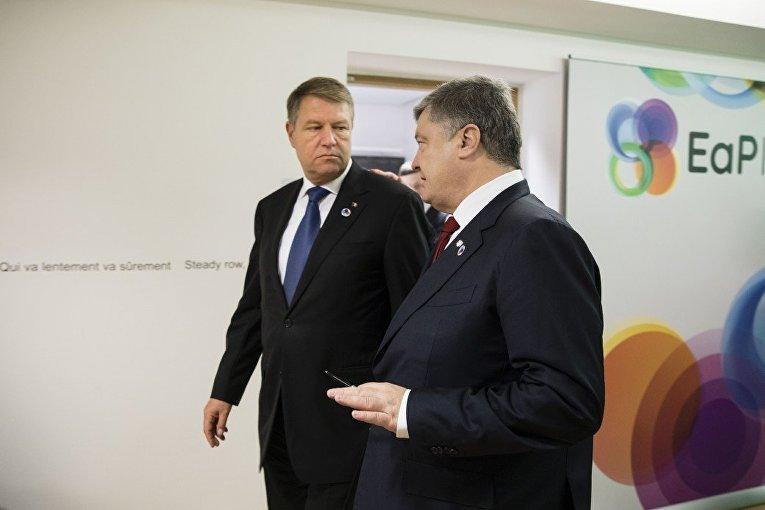 Президент Украины провел встречу с Президентом Румынии Клаусом Йоханнисом