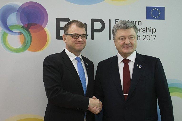 Президент Украины провел встречу с Премьер-министром Финляндской Республики Юхою Сипиля