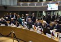 Президент Петр Порошенко на пленарной сессии саммита Восточного партнерства в Брюсселе. Архивное фото