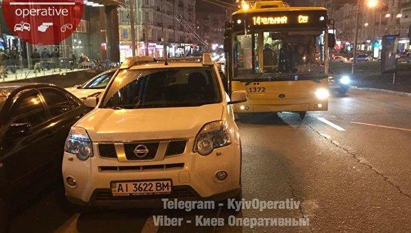Вчерную пятницу центр столицы Украины заблокировал любитель распродаж