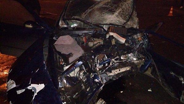 Последствия смертельного ДТП с участием полицейского в Волынской области
