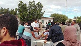 На месте теракта с многочисленными жертвами в мечети в Египте