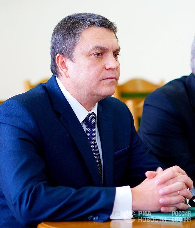Временно исполняющий обязанности главы Луганской Народной Республики Леонид Пасечник.