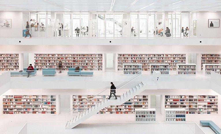 Победителем конкурса в категории Архитектура стал снимок Храм книг немецкого фотографа Ханса-Мартина Дольца